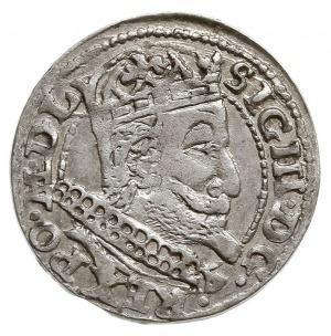 grosz 1607, Kraków, popiersie w obwódce, ma rewersie he...