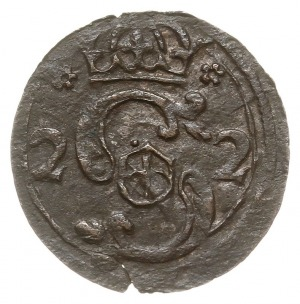 denar 1622, Kraków, odmiana ze skróconą datą 2 - 2 po b...