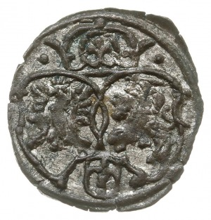 denar 1623, Kraków, skrócona data Z-3 po bokach monogra...