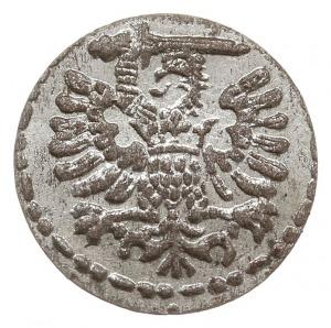 denar 1596, Gdańsk, duże cyfry daty, CNG 145.VII, wyśmi...