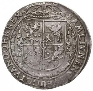 talar 1633, Bydgoszcz, Aw: Półpostać króla, niżej herb ...
