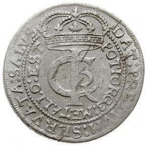tymf (złotówka) 1664, Bydgoszcz, inicjały A-T po bokach...