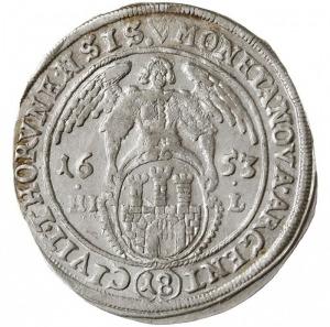 ort 1653 Toruń, na rewersie inicjały HI-L (Hans Jakub L...