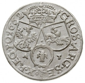 116 - szóstak 1662 A-T, Kraków, odmiana z herbem Ślepow...
