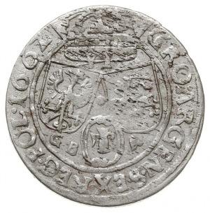 szóstak 1662 GB-A, Lwów, herb Ślepowron na awersie, pat...