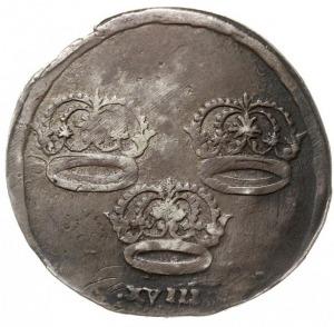 ort bez daty (1656), Toruń, okupacja szwedzka, Aw: Popi...