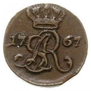szeląg 1767 G, Kraków, Plage-miedź 1, ładny