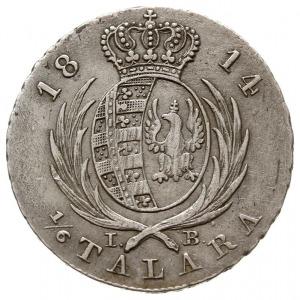 złotówka (1/6 talara) 1814 IB, Warszawa, Plage 107, Ber...