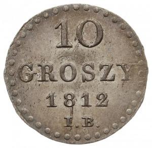 10 groszy 1812 IB, Warszawa, Plage 102, piękny egzempla...
