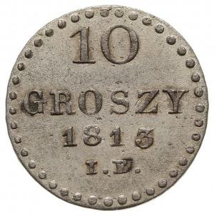 10 groszy 1813 IB, Warszawa, duże cyfry nominału, Plage...