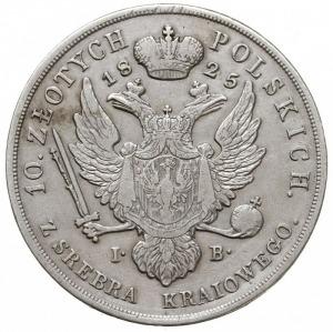 10 złotych 1825 IB, Warszawa, srebro 30.91 g, Plage 28 ...