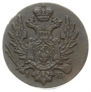 1 grosz polski z miedzi krajowej 1824, Warszawa, odmian...