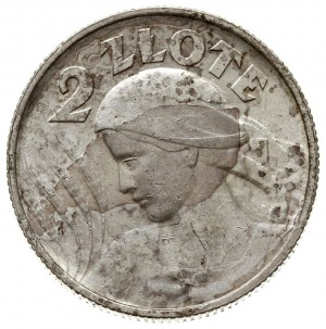 2 złote 1924, Birmingham, Kobieta z kłosami, odmiana z ...