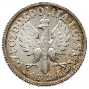 """1 złoty 1924, Paryż, Kobieta z kłosami, """"róg i pochodni..."""