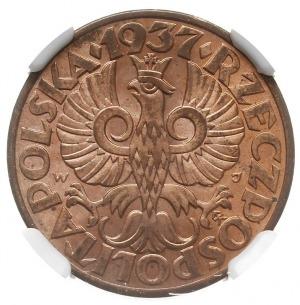 5 groszy 1937, Warszawa, Parchimowicz 103.i, moneta w p...