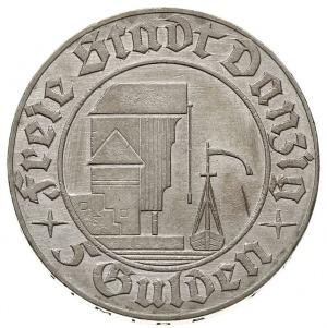 """5 guldenów 1932, """"Żuraw portowy"""", Parchimowicz 67, Jaeg..."""