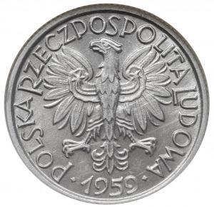 2 złote 1959, Warszawa, Parchimowicz 216.b, moneta w pu...