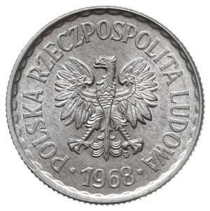 1 złoty 1968, Warszawa, Parchimowicz 213.e, aluminium, ...