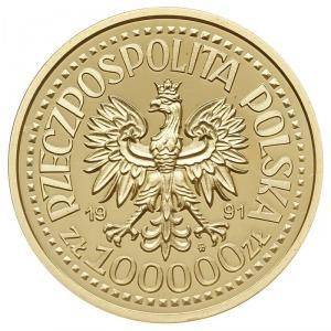 100.000 złotych 1991, Warszawa, PRÓBA Jan Paweł II, zło...