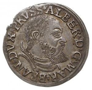 trojak 1541, Królewiec, odmiana z krótką brodą księcia,...