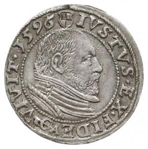 grosz 1596, Królewiec, Bahrf. 1308, Neumann 58, rzadki ...