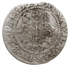 grosz 1633, Królewiec, Aw: Podłużne berło w tarczy i na...