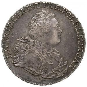 talar 1763, Drezno, Aw: Popiersie z literą ST i wokoło ...