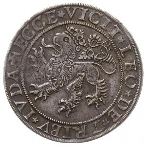 półtalar 1545, Wrocław, Aw: Tarcza herbowa, nad nią dat...