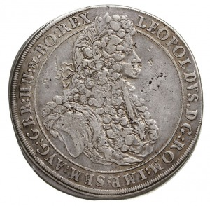 talar 1695/C.B., Brzeg, Aw: Popiersie cesarza w prawo i...