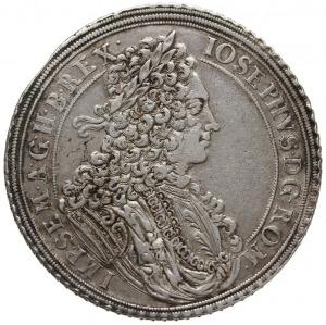 talar 1711, Wrocław, Aw: Popiersie w prawo i napis woko...