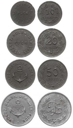 zestaw 1 złoty (aluminium), 50, 20 i 10 groszy (cynk) S...