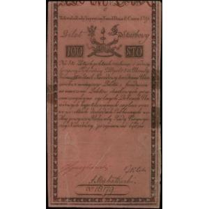 100 złotych polskich 8.06.1794, seria C, numeracja 1817...