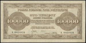 100.000 marek polskich 30.08.1923, seria A, numeracja 6...