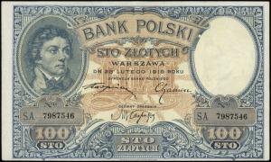100 złotych 28.02.1919, seria A, numeracja 7987546, Luc...