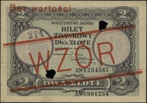 2 złote 1.05.1925, seria A, numeracja 1234567, obustron...