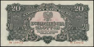 20 złotych 1944, w klauzuli OBOWIĄZKOWE, seria ТО, nume...
