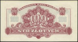 100 złotych 1944, w klauzuli OBOWIĄZKOWE, seria Ax, num...