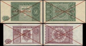 zestaw wzorów banknotów: 1 złoty i 2 złote 15.05.1946, ...
