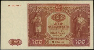 100 złotych 15.05.1946, seria M, numeracja 5273453, Luc...