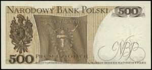 500 złotych 16.12.1974 seria A, numeracja 9510880, Luco...