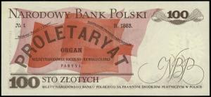 100 złotych 15.01.1975, seria AA, numeracja 2910663, Lu...