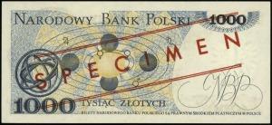 1.000 złotych 2.07.1975, czerwone ukośne WZÓR / SPEC...