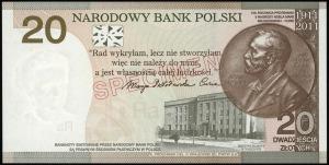 20 złotych, 20.04.2011, Maria Skłodowska-Curie - 100. r...