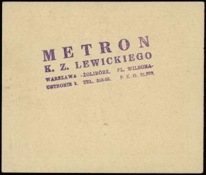 Warszawa, Metron K. Z. Lewickiego, Warszawa-Żoliborz, P...