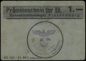 Konzentrationslager Flossenbürg, bon na 1 markę, Campbe...
