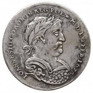 Jan III Sobieski, żeton koronacyjny 1676, Aw: Popiersie...