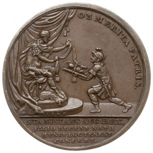 medal na pamiątkę narodzin syna Fryderyka Alojzego Brüh...