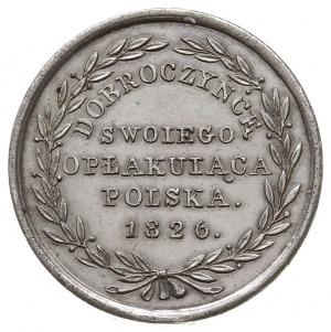 Aleksander I - medal niesygnowany 1826 r., Aw: Popiersi...