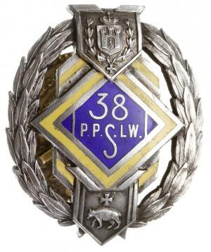 oficerska odznaka pamiątkowa 38 Pułku Piechoty Strzelcó...