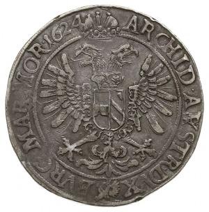 talar, 1624, Praga, Aw: Postać cesarza i napis wokoło, ...